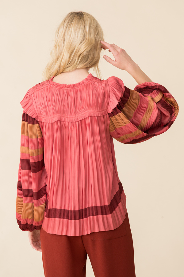 Ulla Johnson Emilda Blouse - Cerise