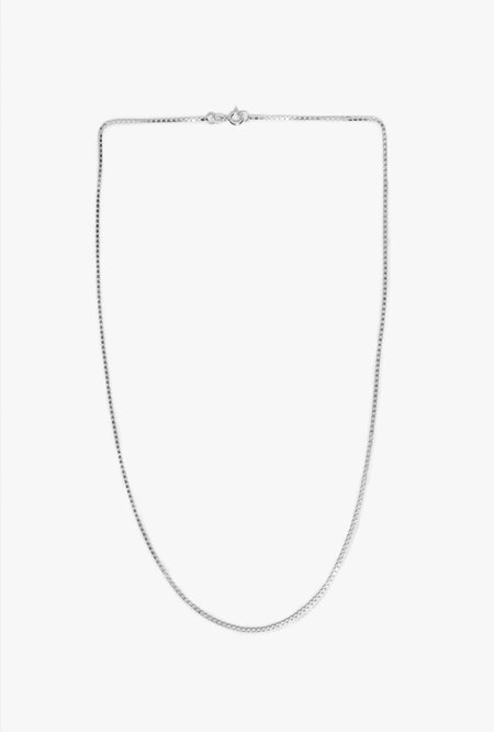 Wolf Circus Box Chain Necklace - Sterling Silver