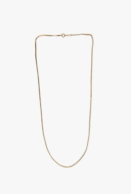 Wolf Circus Box Chain Necklace - Gold