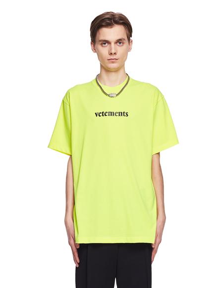 Vetements Cotton Logo T-Shirt - Yellow