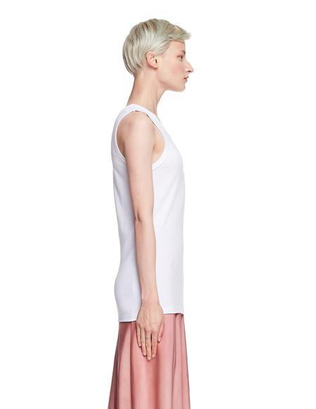 Ann Demeulemeester Cotton Tank Top - White