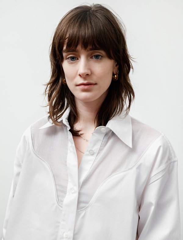 Our Legacy Lend Shirt Cut Lines - White