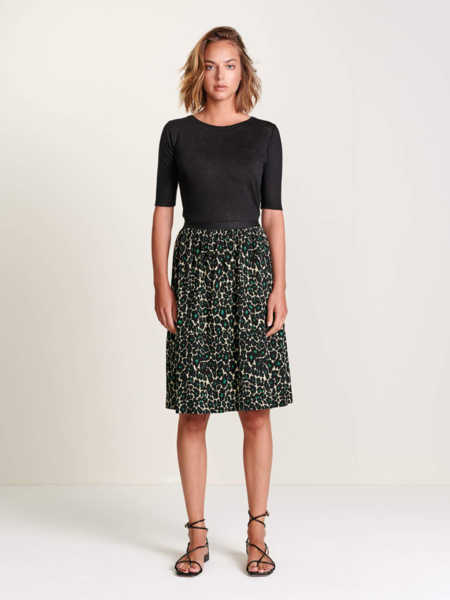 Bellerose Haiba Leopard Skirt - Green