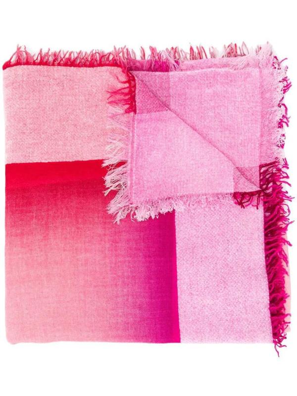 Faliero Sarti Fringe Shawl - Ombre Pink