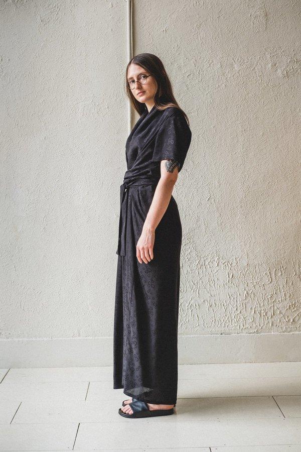 Caron Callahan JOCELYN DRESS - MIDNIGHT JACQUARD