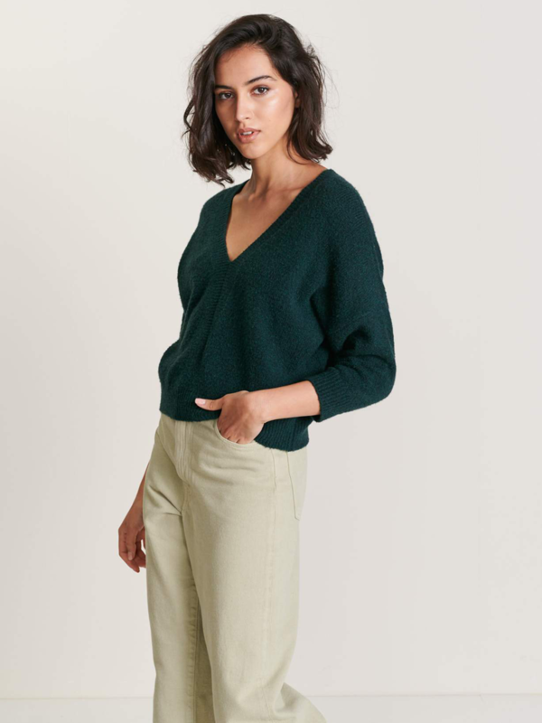 Bellerose Adine V Knit - Baobab Green