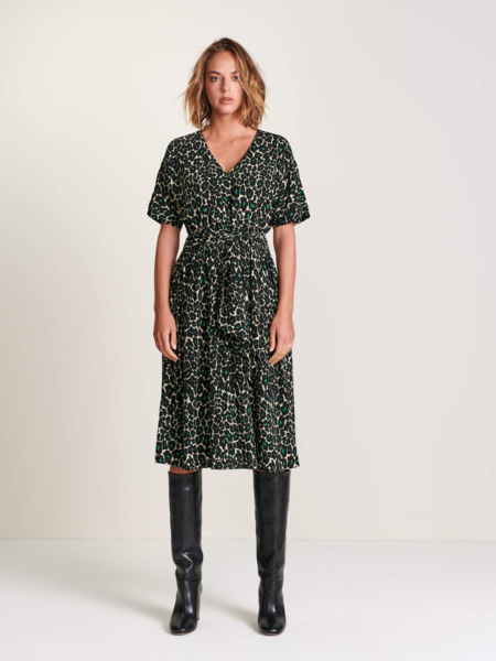 Bellerose Hoek Leopard Dress - Green