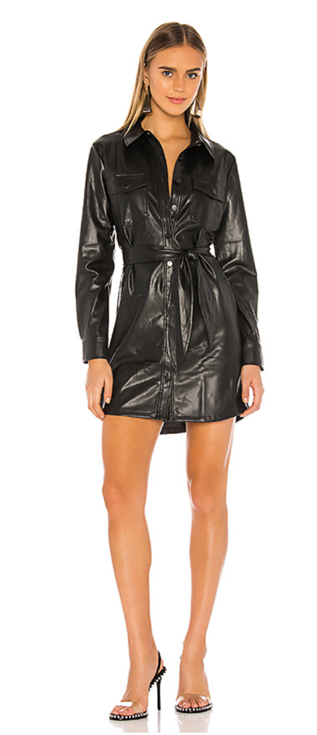 David Lerner Jordan Vegan Shirtdress - black