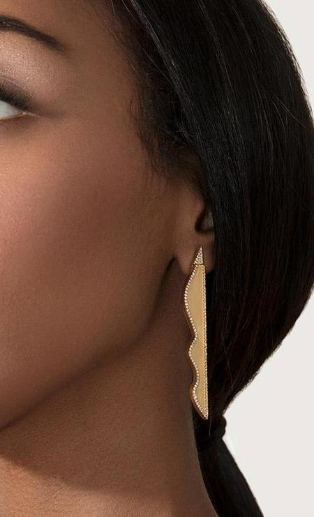 Cyntia Miglio FORM Glow Earring - White Topaz