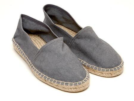 Lisa B. cotton pique classic espadrille - grey