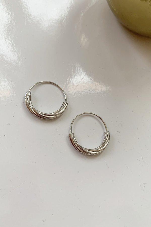 Maria Black Jewelry Tove 20 Hoops - White Rhodium