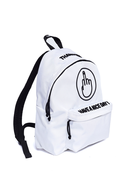 Vetements Embroidered Backpack - White