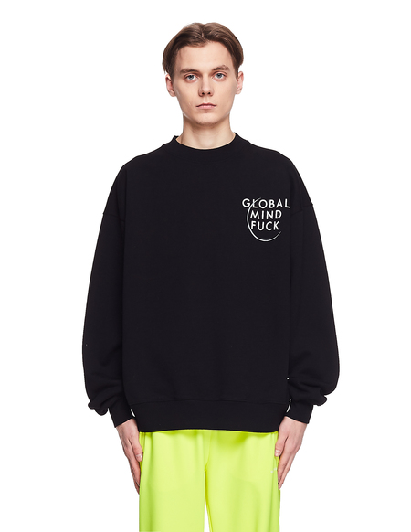 Vetements Cotton GMF Sweatshirt - Black