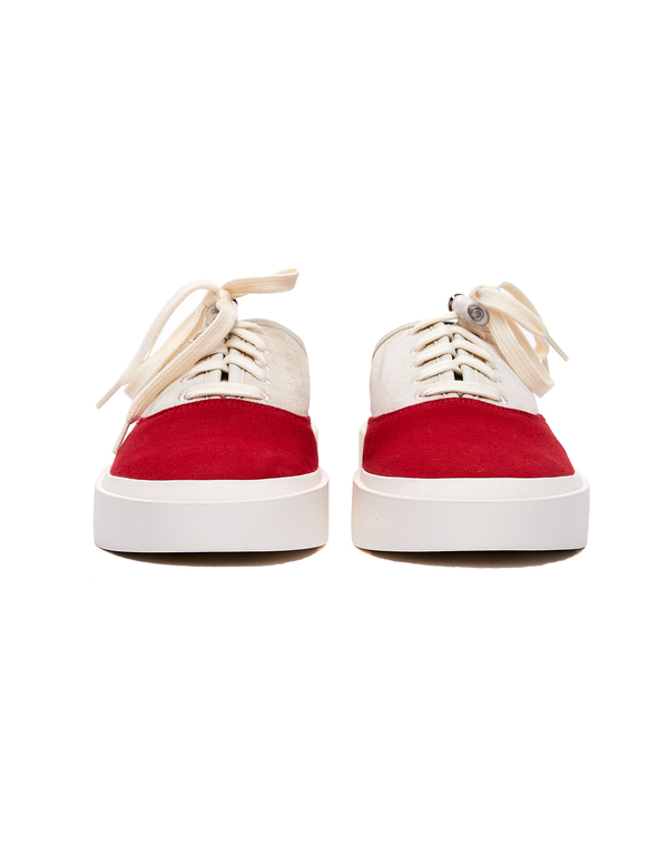 Fear of God 101 Backless Sneakers - Beige/Red