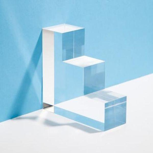 Poketo Set of Two Step Lucite Bookends