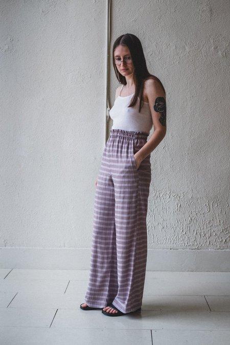 Shaina Mote LOUNGE PANT - LAVENDER CHECK