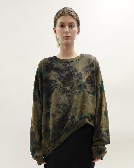 Collina Strada Wave Hem Crew Sweatshirt - Tie Dye