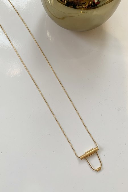 Collanevrosi Jewelry Small Tube Necklace - Gold Plated