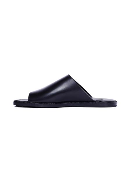 Ann Demeulemeester Leather Slippers - Black