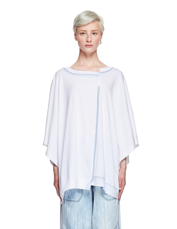 Y's Cotton Oversized T-Shirt - White
