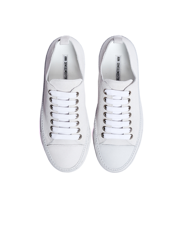 Ann Demeulemeester Suede Low-Top Sneakers - White
