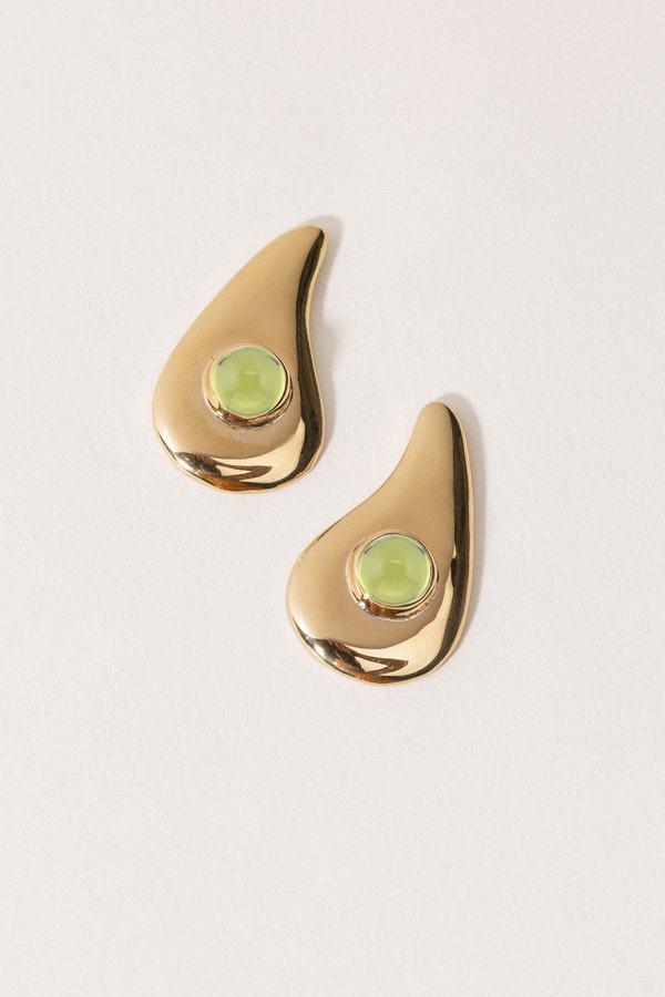 ARO Wave Earrings - Peridot