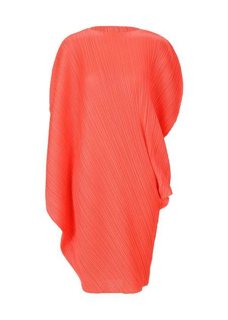 Pleats Please Issey Miyake Curve Dress - Bright Red