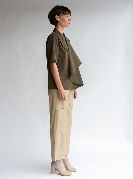 MM6 Maison Margiela Double Knee Twill Pant - Camel