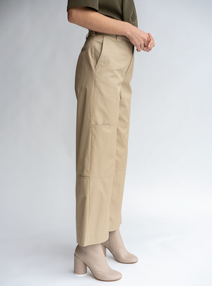 MM6 Maison Margiela Double Knee Twill Pant - Camel