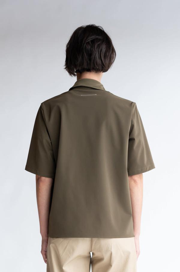 MM6 Maison Margiela Multi-Wear Drape Shirt - Military Green