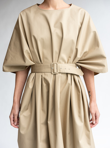 MM6 Maison Margiela Oversized T-shirt Dress - Camel