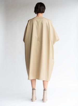 MM6 Maison Margiela Oversized T-shirt Dress - Camel