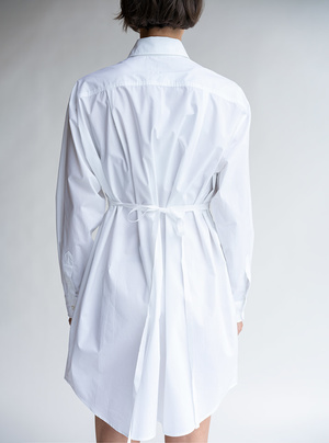 MM6 Maison Margiela Poplin Shirt Dress - White