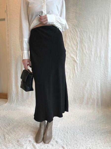 Stateside Cupro Bias Midi Skirt - Black