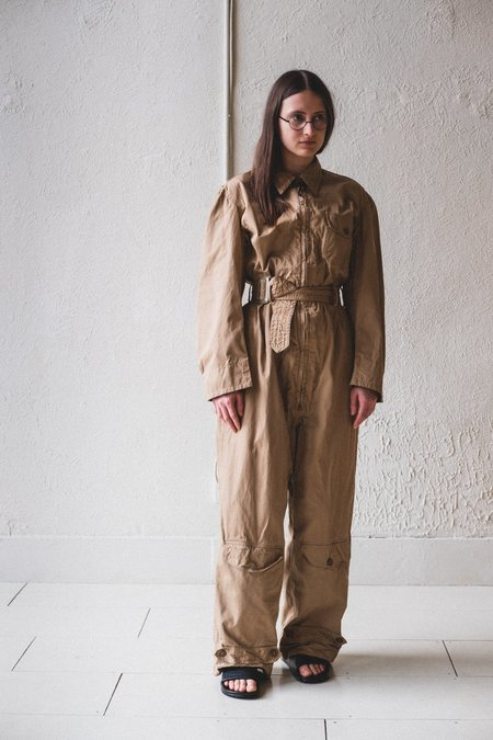 VINTAGE AVIATOR COVERALLS - tan