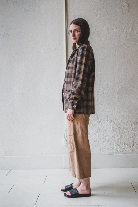 Vintage Wool Plaid Shirt - Blue/Brown