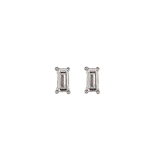 Hestia Jewels Baguette Diamond Earrings