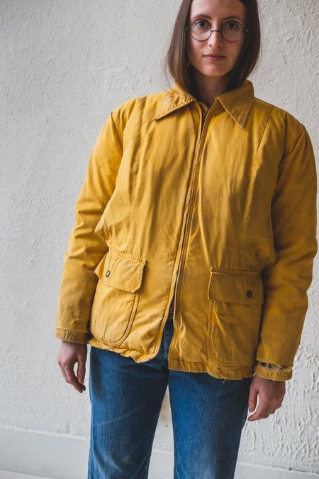 VINTAGE Seattle Quilt Mfg. Co DOWN JACKET - Yellow