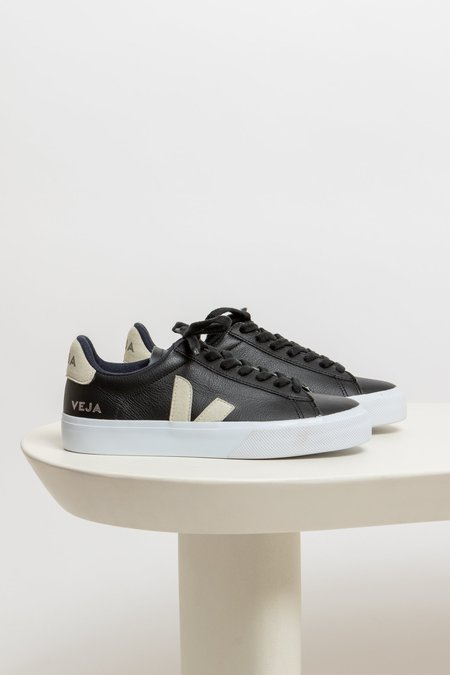 Veja Campo Leather Sneaker - black/white