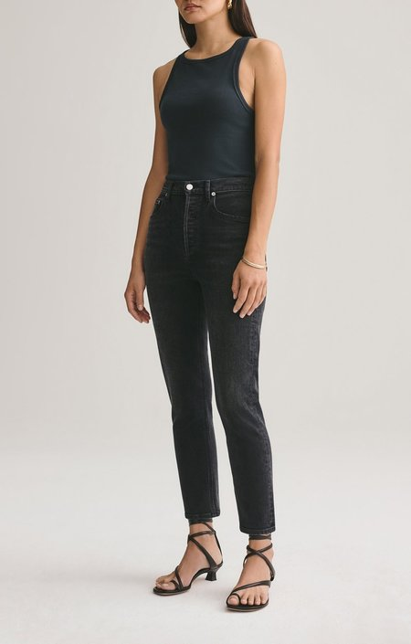 AGOLDE RILEY high rise slim jeans - BLACK PEPPER