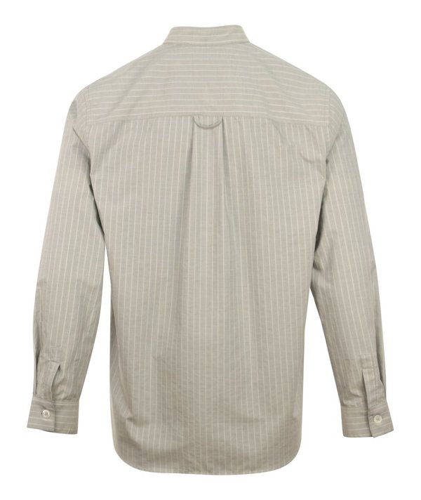 A.P.C. Alejandro Grandad Stripe Shirt - Grey