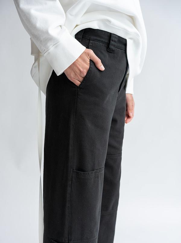 MM6 Maison Margiela Double Knee Trouser - Black Denim