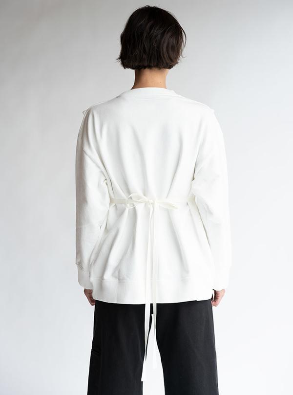 MM6 Maison Margiela V-Neck Bib Logo Sweatshirt - white