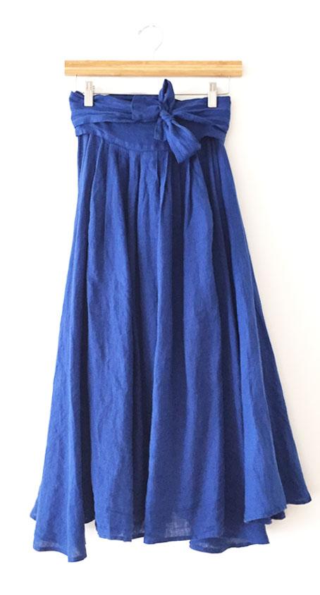 Black Crane Wrap Skirt - Royal Blue