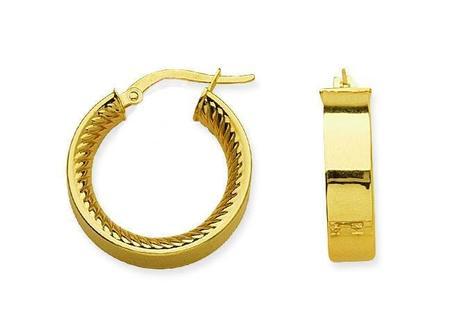 Hestia Jewels Revolve Inner Design Hoop Earrings - Gold