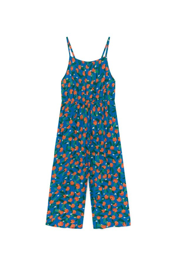 KIDS Bobo Choses All Over Oranges Woven Overall - BLUE