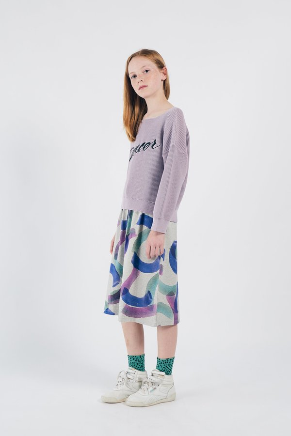 KIDS Bobo Choses All Over Painted Jersey Skirt - GREY