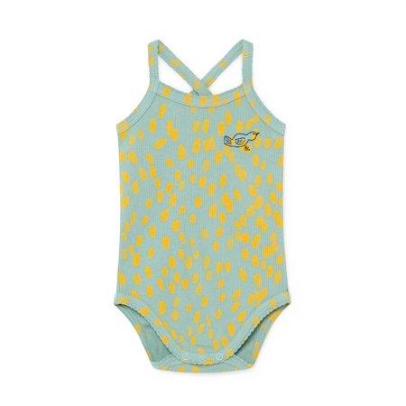 KIDS Bobo Choses Animal Print Sleeveless Bodysuit - GREEN