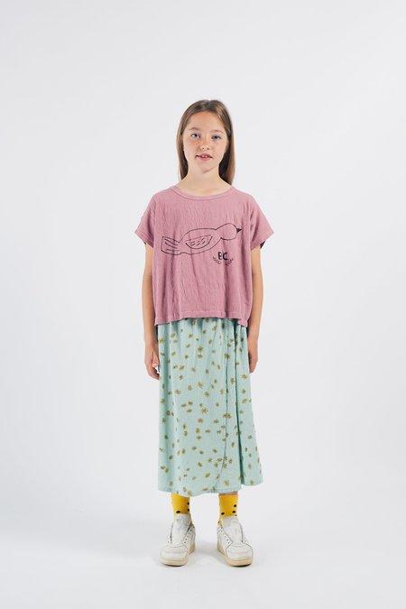 KIDS Bobo Choses Bird Short Sleeve T Shirt - PINK