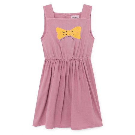 KIDS Bobo Choses Bow Woven Dress - PINK